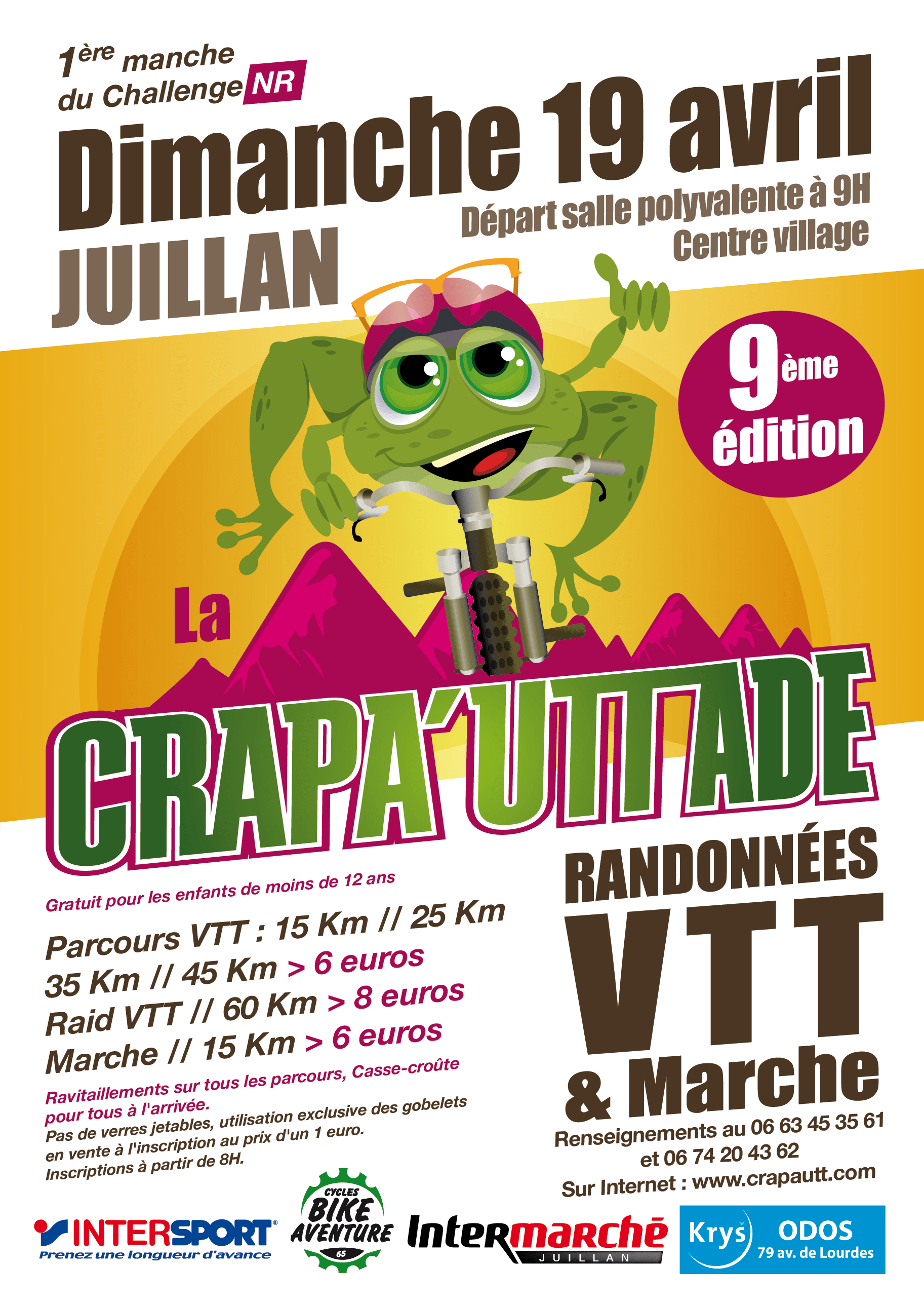 CRAPAUTTADE Juillan VTT AFFICHE 2015